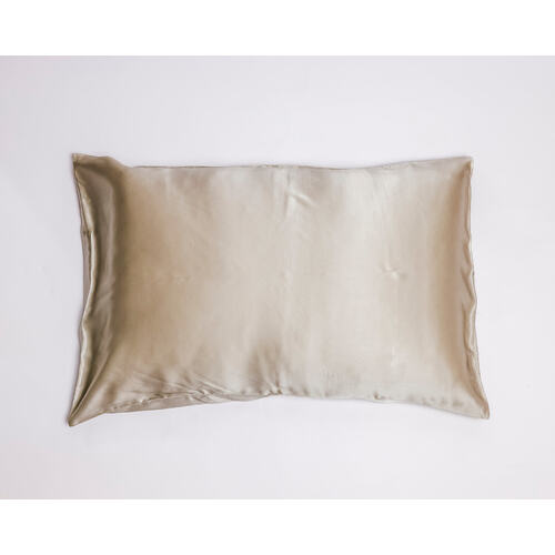 Pearl Grey Pure Silk Pillowcase in Gift Box