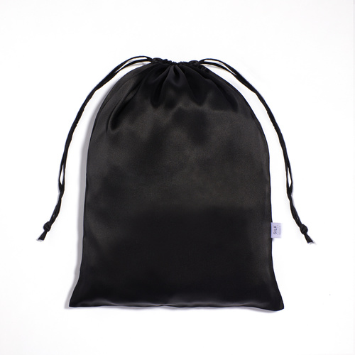 Silk Travel Bag - Black