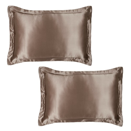 King Sized Pure Silk Pillowcases with Tailored Edge - Haze
